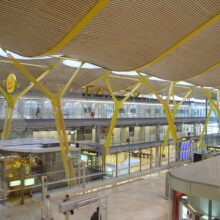 Bamboo ceiling in Madrid International Airport