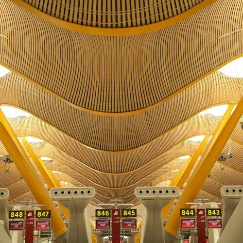 Soffitto aeroporto di Madrid
