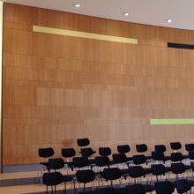 Bamboe wand fineer in Domsingschule Stuttgart