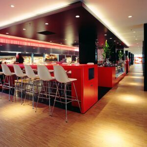 Bamboo flooring in citizenM Hotel Amsterdam