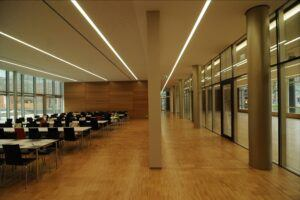 Bamboo floor in Technical school center Heilbronn