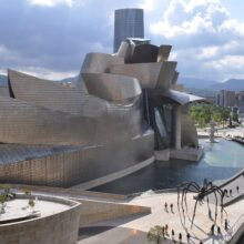 Bamboo veneer at Guggenheim Museum Bilbao