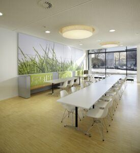 Bamboo flooring in HSE Head Office Darmstadt