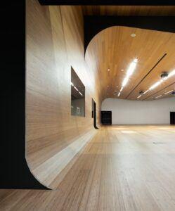 Impiallacciature di bamboo in gli uffici direzionali Idom