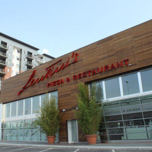 Bamboo façade X-treme Lentini's Pizza Restaurant