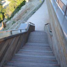 Terraza de bambú alrededor del Hotel Riberach 4* Belesta