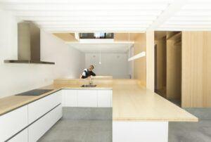 Bambusböden und Platten im privaten Wohnhaus Cercedilla