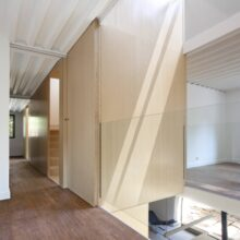 Bamboo flooring and panels in the private residence Cercedilla