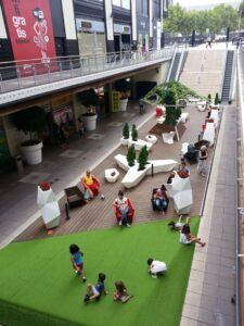 Bamboo Decking nel centro commerciale Glorias