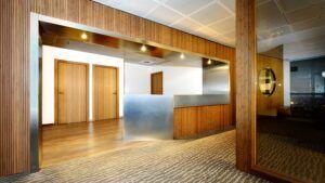 Impiallacciatura di Bamboo MOSO usata nella sede centrale di Inbisa, Barcellona