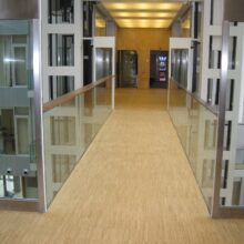 Bamboo flooring and bamboo walls in Alta Diagonal Barcelona