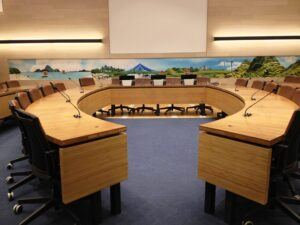 Bamboo table at Food and Agriculture Organisation of the United Nations