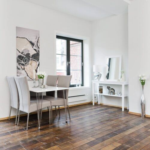 MOSO Bamboo forest flooring used in an apartment Oslo, Norway