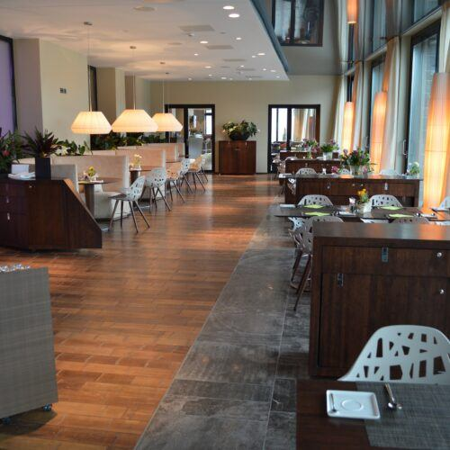 Bamboe vloer in Campus Hotel Hertenstein
