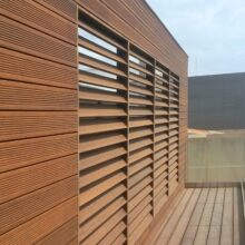 Bamboo decking and cladding Gas Museum Barcelona
