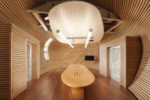 Bamboo Flooring, wall, furniture Tel-Aviv University (PSES)