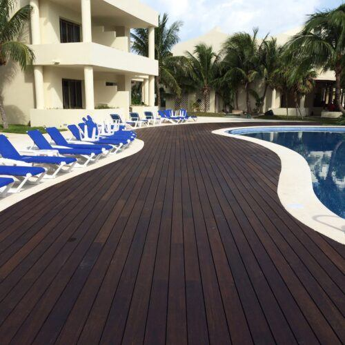 Bamboo decking in Iberostar resort