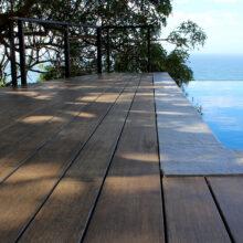 La terraza de bambu MOSO está instalada en una Residencia privada en Ciudad del cabo