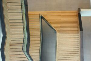 MOSO Bamboo used for stairs in OWC Utrecht