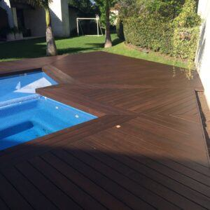 High stability bamboo decking