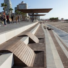 Bamboo decking boards X-treme Beach Promenade Tel-Aviv
