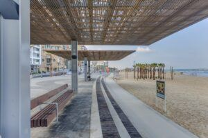 Bamboo X-treme Decking and Outdoor Beams Beach Promenade Tel-Aviv