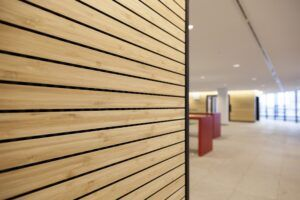 MOSO Bamboo wallcovering at city hall Utrecht
