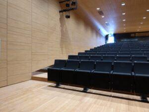 Bamboo flooring in Auditorium Treviglio
