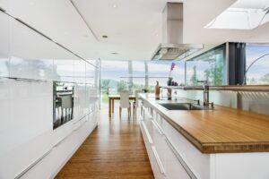 Bambusboden und Bambus Platten in Privat-Haus in Norwegen