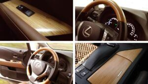 MOSO Bamboe fineer in Lexus 450 auto interieur