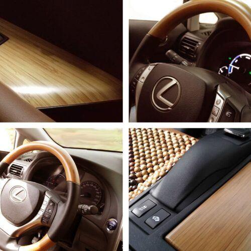 chapa de bambu MOSO aplicado en el Interior del Lexus 450