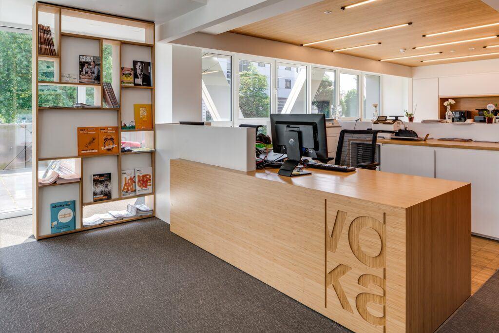 Pannelli in bamboo presso Voka, Camera di Commercio, Gent