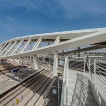 Bamboo X-treme decking and ceiling Beer Sheva Bridge