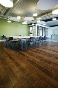 MOSO bamboo flooring used in MOSO International head office in Zwaag