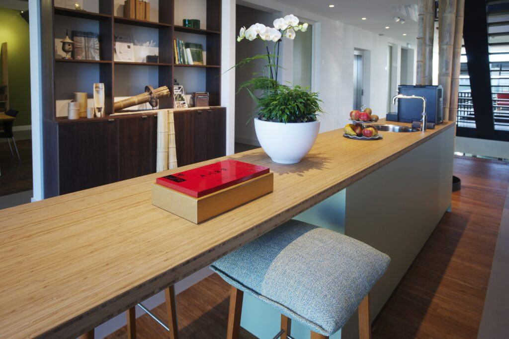 MOSO head office and bamboo worktop