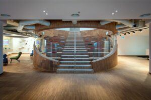 MOSO Bamboo Industriale used for Stair of Avaya Offices Israel