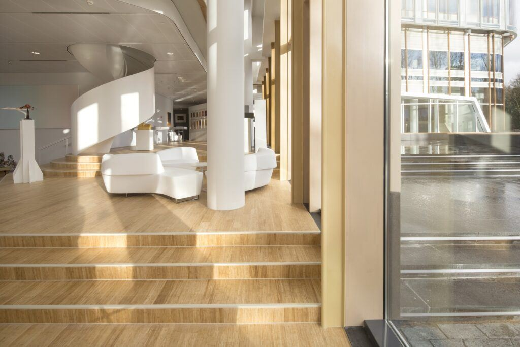 bamboo stairs in AkzoNobel Center Amsterdam