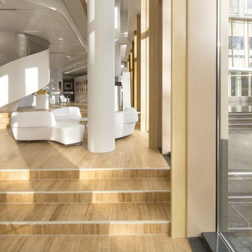 bamboo floor in AkzoNobel Center Amsterdam