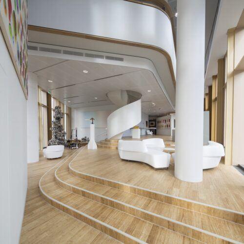 bamboo floor in AkzoNobel Center Amsterdam