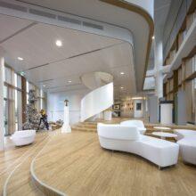 Suelos de bambu en la sede AkzoNobel Amsterdam