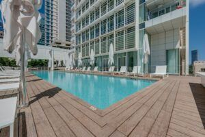 Bamboo decking of Meier On Rothschild Tower Luxury Apartments
