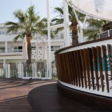 Bamboo decking at Ushuaïa Ibiza