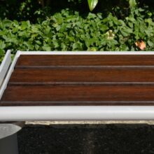 MOSO Bamboo beams used in outdoor bench