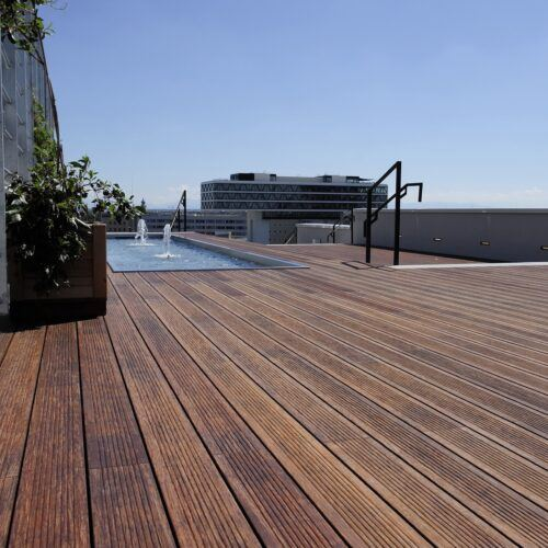 MOSO Bamboo X-treme Terrace at at Werk 3 in Germany
