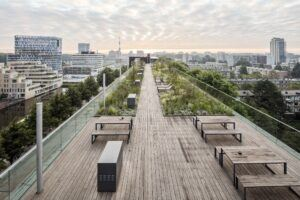MOSO Bamboo X-treme decking rooftop terrace in Amsterdam