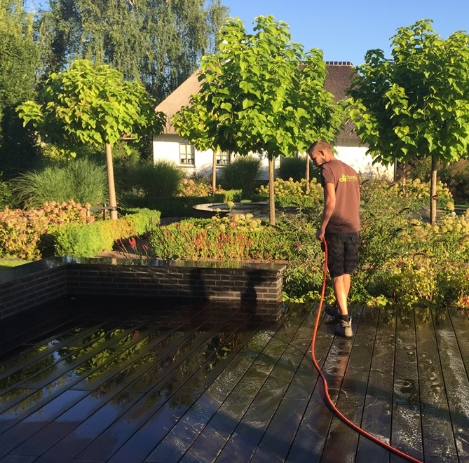 cleaning bamboo decking