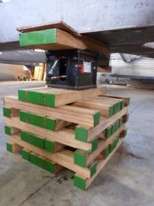 Bamboo beams for heavy lifting