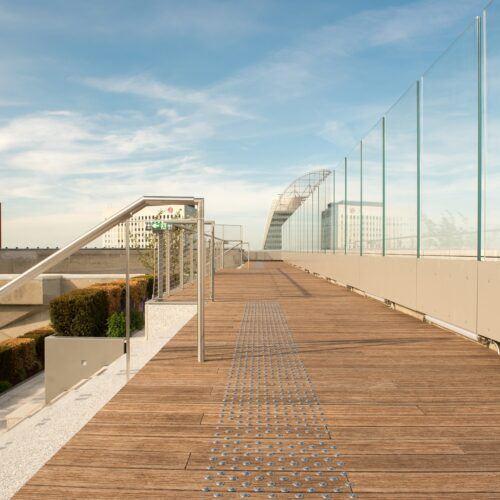MOSO Bamboo rooftop on the Grande Arche de la Defense
