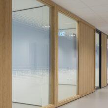 Bamboe vloeren, wanden, kozijnen en meubels in Campus Den Haag