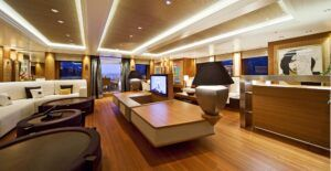 MOSO Bamboo Solid Panel used in luxurious yacht